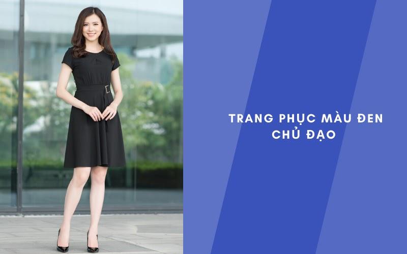 Trang phục màu đen giúp che đi khuyết điểm chân to