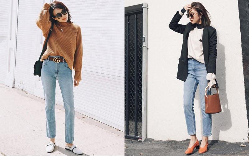 Tips phối quần jeans cho cô nàng công sở